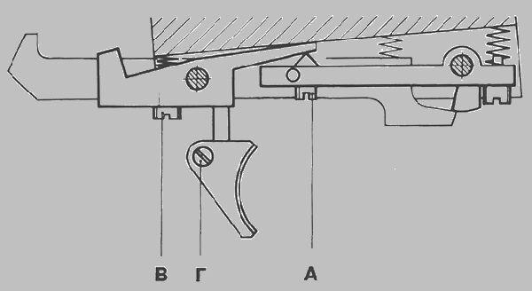 Схема спускового механизма